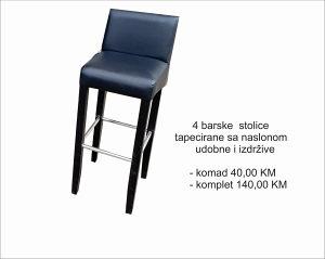 4 Barske stolice sa naslonom