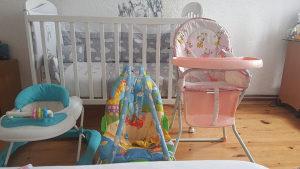 Krevetic, hodalica , ljuljacka za bebe