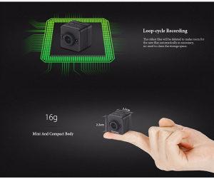 Mini kamera SQ12 FULL HD 1920x1080 Mini spy