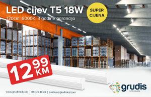 LED CIJEV T5 120cm 18W 6000K NEONKA