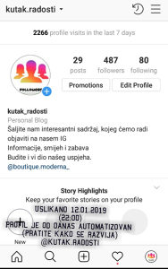 Organski Instagram pratioci (followers/foloweri)