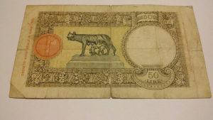 Novcanice 50 Lira ITALIJA 1933-38. SPECIJALNO