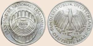 kovanica srebro 5 deutche mark 1973