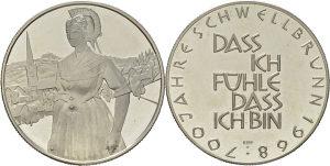Kovanica srebrna medalja 1968