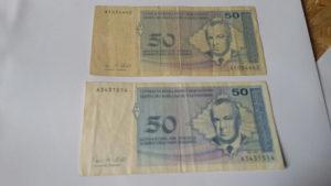 Novcanice Lot 50 pfeniga BiH
