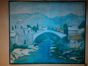 Slika Mostar ulje na platnu