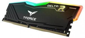 TEAM GROUP 8GB Delta Black RGB DDR4 3000MHz CL16