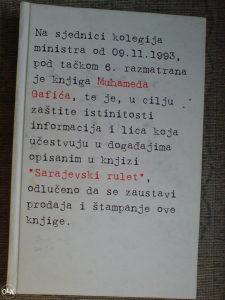 SARAJEVSKI RULET - Muhamed Gafić