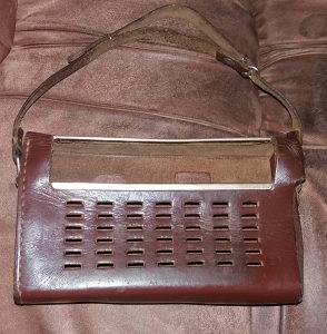 Kožna torbica za radio,tranzistor 1950 god.