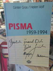 KNJIGA PISMA 1959 - 1994 - Ginter Gras / Helen Volf