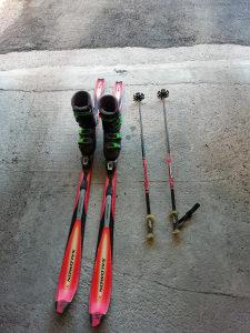 """Skije """"salomon"""",  štapovi """"alpin racing"""", cipele 42-43"""