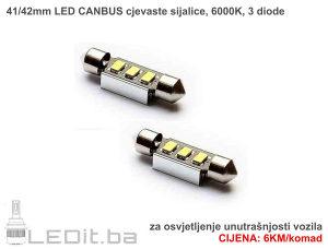 41mm LED CANBUS cjevasta sijalica za unutrašnjost
