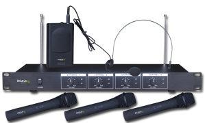 MIKROFON BEŽIČNI  SET IBIZA VHF4 (3 ručna i 1 naglavni)