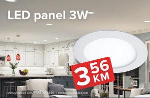 LED panel 3W, 6W, 9W, 12W, 18W, 24W