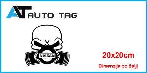 Stikeri i auto naljepnice/naljepnica skelet NISSAN