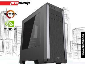 GAMING RAČUNAR CYCLOPS Ryzen 5 1600 GTX1050Ti 4GB