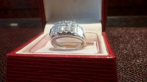 Prsten Bijelo zlato Brilijanti