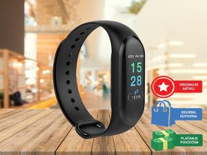 Fitness Tracker  - Pametni sat - Smartwatch BLACK