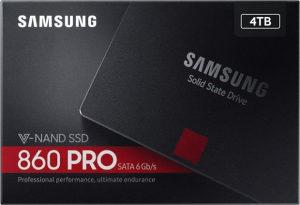 """SAMSUNG 4TB 860 PRO SATA3 2.5 """"MZ-76P4T0B / EU"""