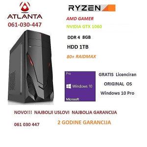 Gamer AMD Ryzen 3/gtx 1060/8GB DDR4/1TB pc