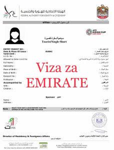 Viza za Emirate