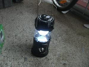 Lampa Led za kampovanje solarna