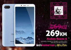 Xiaomi Redmi 6 |3GB+32GB |Dual 12+5 mpx |Dual SIM