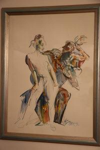 Prodajem akvarel Ismara Mujezinovića
