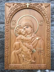 Ikona Bogorodice u duborezu