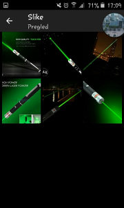 Laser zeleni