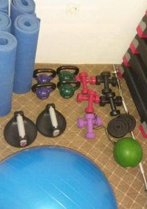 Oprema za fitnes, girje, steperi, bučice