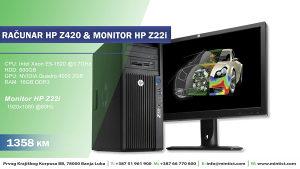 Računat HP Z420&Monitor Z22i -12mj.garancija
