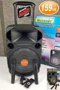 Bluetooth karaoke zvucnik sa 2 mikrofona