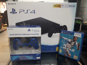 PlayStation 4 Slim 500GB / 2x Dualshock 4 + FIFA 19 PS4