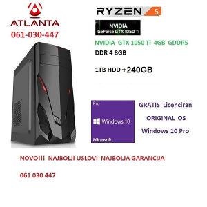 Amd ryzen 5 2600 GTX 1050Ti Ti 8GB DDR4 1TB 240SSD