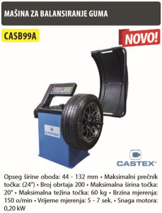 Masina za balansiranje guma CASB99A