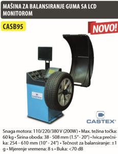 MAŠINA ZA BALANSIRANJE GUMA SA LCD MONITOROM CASB95