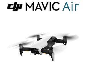 DJI dron MAVIC Air Arctic White 4K (BIJELI), domet 10km