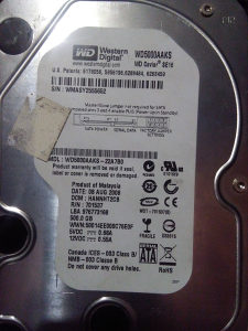 Hard disk sata 500GB WD