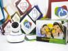 WiFi PTZ kamera microSD HD kvalitet, 1.3 MPx