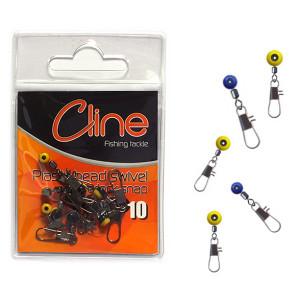 Cline Plastic head swivel w/interlock snap L Feeder