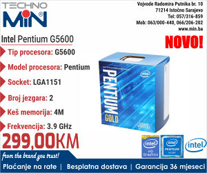 Intel Pentium G5600 3.90/4MB/2/54W