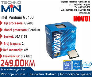 Intel Pentium G5400 3.7/4MB/2/54W