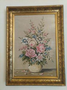 Goblen vaza s cvijećem