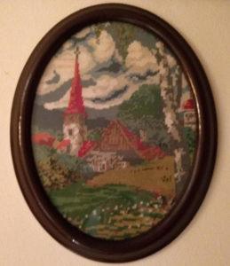 Goblen krajolik, crkveni zvonik