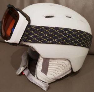 Dječja kaciga za skijanje + naočale