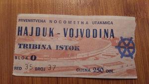 Stara ulaznica hajduk-vojvodina