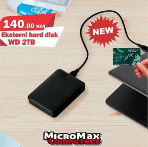 """HDD External 2.5"""" 2TB / 2 TB WD, 8MB USB 3.0"""