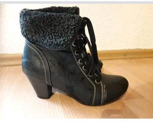 Cizme crne prava koža 37