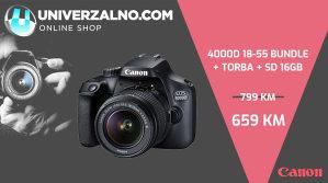 CANON EOS 4000D 18-55 SA TORBOM I SD 16GB